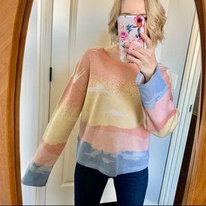 INC International Concepts Peachy Sunrise Sweater